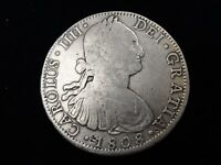 "1808 Mexico 8 Reales TH ""America's 1st Silver Dollar"" Real Pirate Treasure"