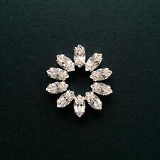 10 x PRECIOSA Crystal Sew-on Rhinestones/Diamantes/Jewels. 10 x 5mm - Navettes.
