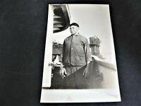 Hard working man- Real Photo Postcard (RPPC)-Stamp Box - AZO (1904-1918).