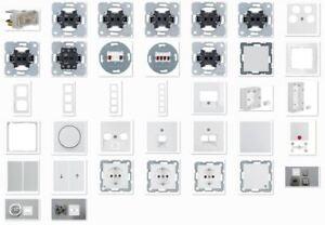 Berker S.1 polarweiß glänzend Steckdosen/Schalter/UP/Rahmen, wählbar
