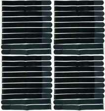40 x Klettband Kabelbinder 50 cm x 50 mm schwarz Klettbänder Kabelklett mit Öse