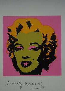 Pop Art Limited edition silkscreen – Marilyn, signed Andy Warhol w docs