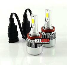 H11 C6 Canbus LED Headlights Kit COB 72W Set Xenon White Super Bright N24