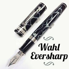 Wahl Eversharp The Magnificent Seven Oversize Celluloid Black Fountain Pen