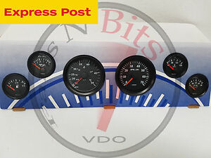 VDO 12v marine SPEED BOAT full BLACK GAUGE ONLY KIT brand new..!