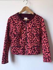4639354f886b GAP Cropped Jacket Leopard Print Women's Size 0 Long Sleeves