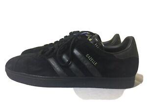 NEW 2006 DEAD  STOCK Adidas Gazelle Black Suede Training Sneakers  Men's 13