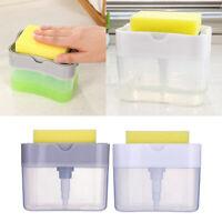 Seifenspender mit Schwammhalterung Küche Spülmittelspender für Spülbecken
