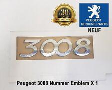 Peugeot 3008 Nummer Emblem Plakette Logo Heckklappe 8666CF Neuf