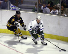 Ron Francis & Ray Bourque Unsigned Boston Bruins Hartford Whalers 8x10 Photo