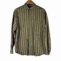Eddie Bauer Men's Size XL Tall Plaid Flannel Button Down Shirt