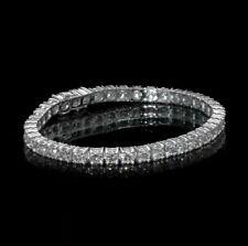 9.50ct ROUND CUT DIAMOND TENNIS BRACELET 14K WHITE GOLD F VS2