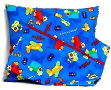 Airplanes Toddler Pillow & Pillowcase set on Blue Cotton #Ap11 New Handmade