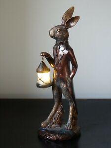 Debbon  Hare Light up Ornament With Lantern Night Light