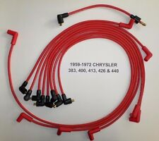 Big Block Chrysler 1959-1972 383-400-413-426-440 RED Spark Plug Wires-POINTS USA