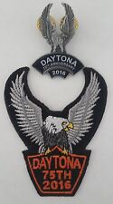 Pin and Patch Embroidered sew on; UpWing Eagle, Daytona 2016, 75th annual