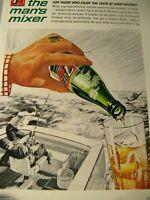 "7 Up You/'ll Flip Your Flippers 1960 Original Print Ad 8.5 x 11/"""