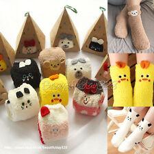 🌟Kids Girls Boys Animals Soft Fluffy Lounge Slipper Socks Leg Warmer 4-13Y🌟