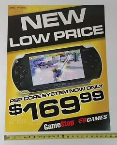 SONY PlayStation PSP Video Game Store Display Sign 22x28 Promo Advertising