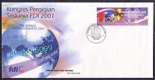 2001 Malaysia FDI World Dental Federation Congress 1v Stamp FDC (Melaka Cachet)