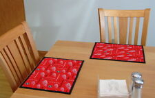 "Detroit Red Wings NHL Hockey - Handmade 17x13"" Placemat"