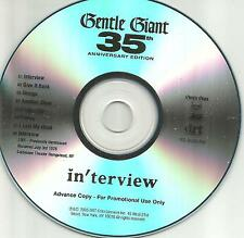 GENTLE GIANT in'terview Anniversary ADVNCE TST PRESS PROMO DJ CD 2005 BONUS TRK