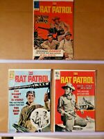 The Rat Patrol #'s 3, 4 & 6   Dell Comics 1967    (E513)