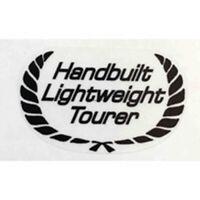 """RALEIGH """"Handbuilt Lightweight Tourer"""" seat tube sticker."""