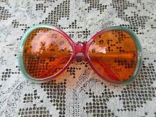 Vintage oversized mod retro green fashion sunglasses