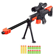 Nerf Military Sniper Toy Rifle Gun Kids Gift Weapon 15 Pcs Soft Bullet