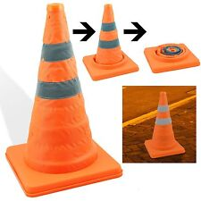 "18"" COLLAPSIBLE PULL OUT POP UP SAFETY CONE EMERGENCY ACCIDENT TRAFFIC ROAD"