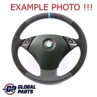 BMW E60 E61 LCI Nouveau en Cuir Noir / Alcantara Volant Avec M-DREIFARBIGE Fils