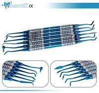 6 Pcs Dental Composite Filling Instrument Blue Titanium Coated Restorative Kit