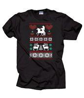 Unicorn Love Christmas Ugly Sweater T-Shirt Funny Xmas Tee Shirt Christmas Party