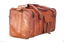 Bag Leather Duffle Overnight Gym Vintage Travel Weekend Men S Genuine Large New
