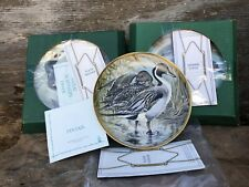 New! Franklin Porcelain Water Birds of the World - Set of Three (3)