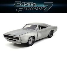 NEW Jada 97336 Fast And Furious 7 Dom's 1970 Dodge Charger R/T 1/24 Bare Metal
