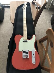 Rare New Fender Tenor Tele Telecaster Electric Guitar Fiesta Red