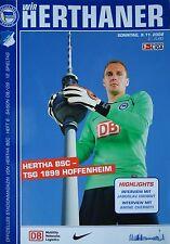 Programm 2008/09 Hertha BSC Berlin - 1899 Hoffenheim