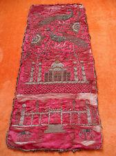 Antik Wandbehang Tischdecke pfau Deko Handbestickt Metallfaden-Stickerei Orient