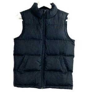 Lands' End boy's size 7 down vest large black puffer kids
