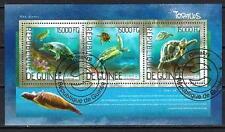 Animaux Tortues Guinée (166) série complète 3 timbres oblitérés