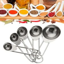 5pcs/Set Stainless Steel Measuring Spoons Cups Useful Kitchen Baking Tool