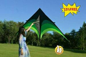 Large Delta Kite For Kids And Adults Single Line Easy Q5M3 Handle w/ Fly Z4D4