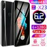 "X23 128GB+6GB Android Dual SIM RAM 6.2"" Dual HD Camera LCD Smart Mobile Phone"