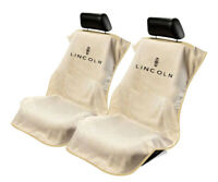 Seat Armour Universal Tan Towel Front Seat Covers for Lincoln -Pair