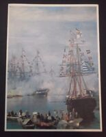 GREECE SHIP CHRISTMAS GREETING CARD THE ARRIVAL OF THE PRINCESS SOFIA VOLONAKIS