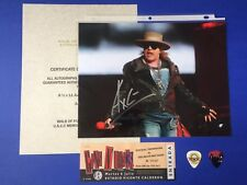 Axl Rose Guns N Roses Autograph Signed Music Picture Photo COA Concert Ticket