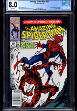 AMAZING SPIDER-MAN #361 CGC 8.0 WP 1ST APP CARNAGE, NEWSSTAND EDITION!