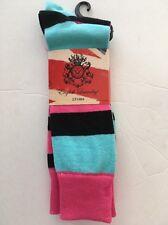 New English Laundry Men's Socks TWO Pair Stripe 6.5-12 Shoe size PINK BLUE